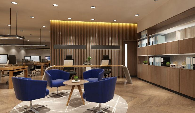 Desain Interior Kantor Skandinavia